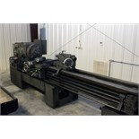 "Lot 10 - HEAVY DUTY ENGINE LATHE, LEBLOND 16"", 18"" chuck, 108"" dist. btn. centers, taper attach.,"