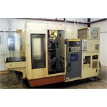 Lot 4 - CNC HORIZONTAL MACHINING CENTER, OKUMA-HOWA MDL. MILLAC-4H, new 4/1984, Fanuc 6M CNC control, 20""
