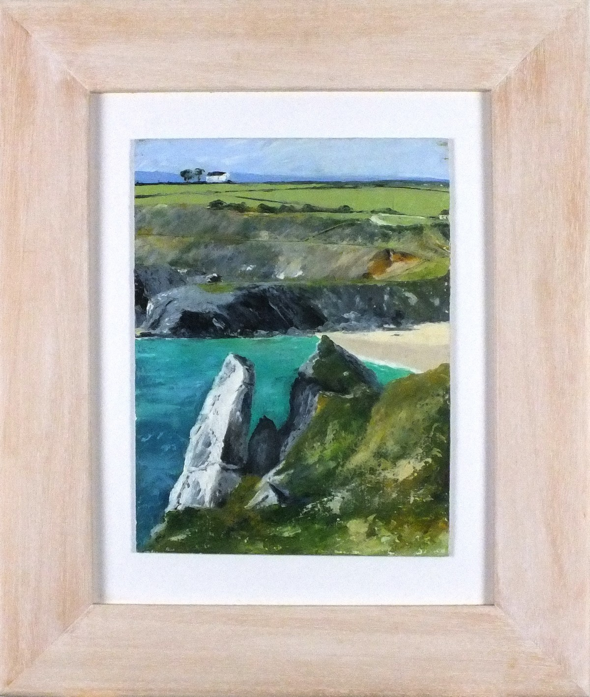 "Lot 2 - Elaine OXTOBY (British b. 1957) Sennen Cove, Oil on board, Signed lower right, titled verso, 12"" x"