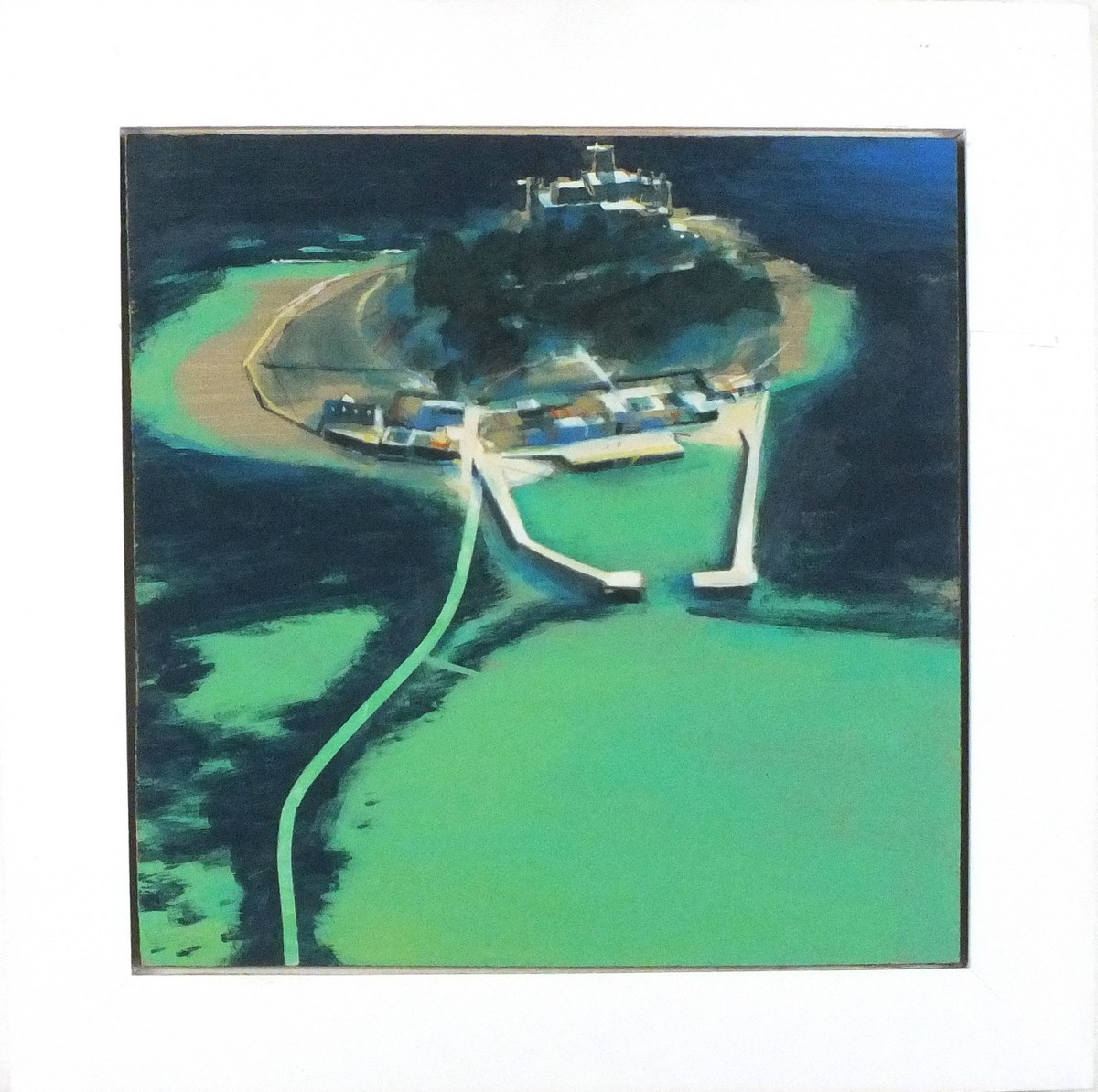 Lot 10 - Alasdair LINDSAY (British b. 1975)St Michael's Mount, Acrylic on board, Signed, titled and dated