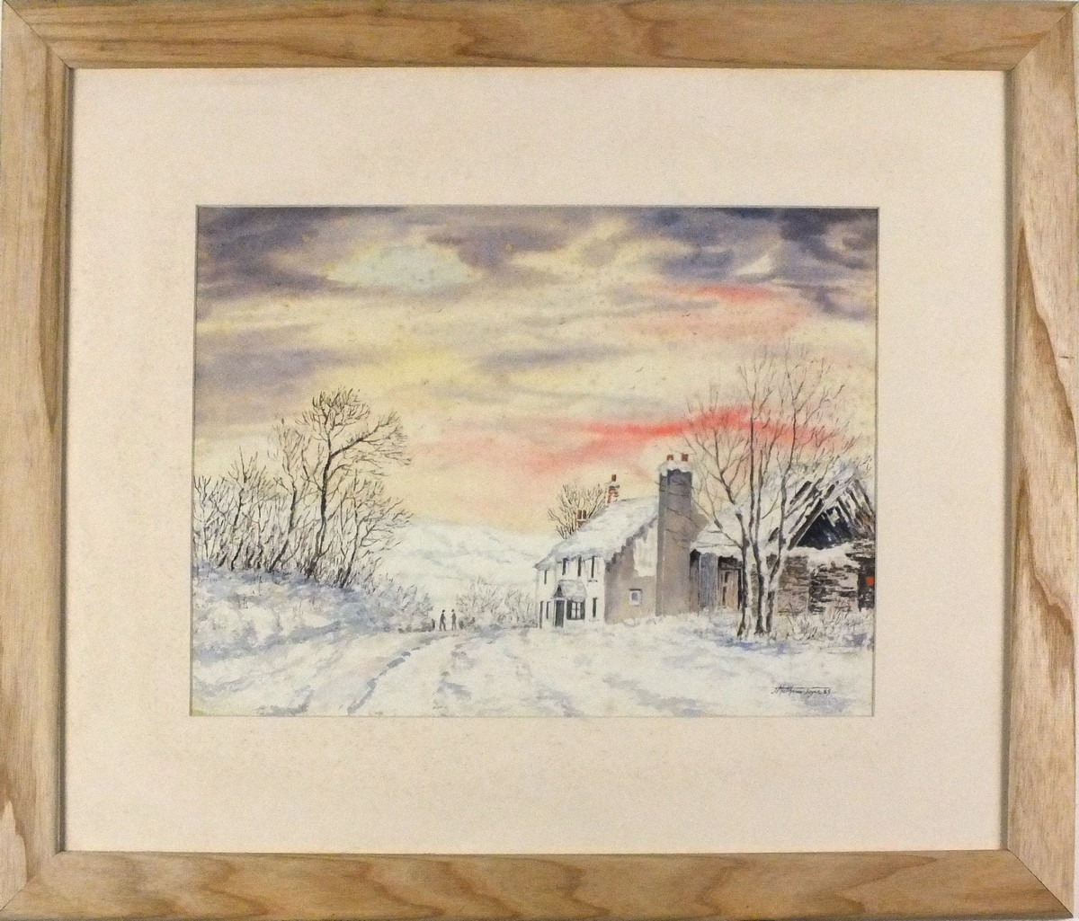 Lot 23 - Matthew JOYCE (British 20th Century) Winter Scene with a Cottage, Signed and dated '89 lower