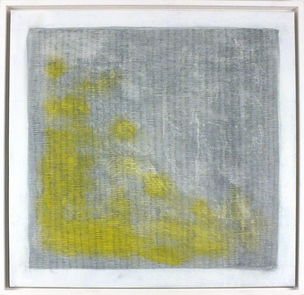 Lot 39 - Lou JOHNS (British b. 1970) Pendeen - abstract, Acrylic on canvas, Signed lower right, titled verso,