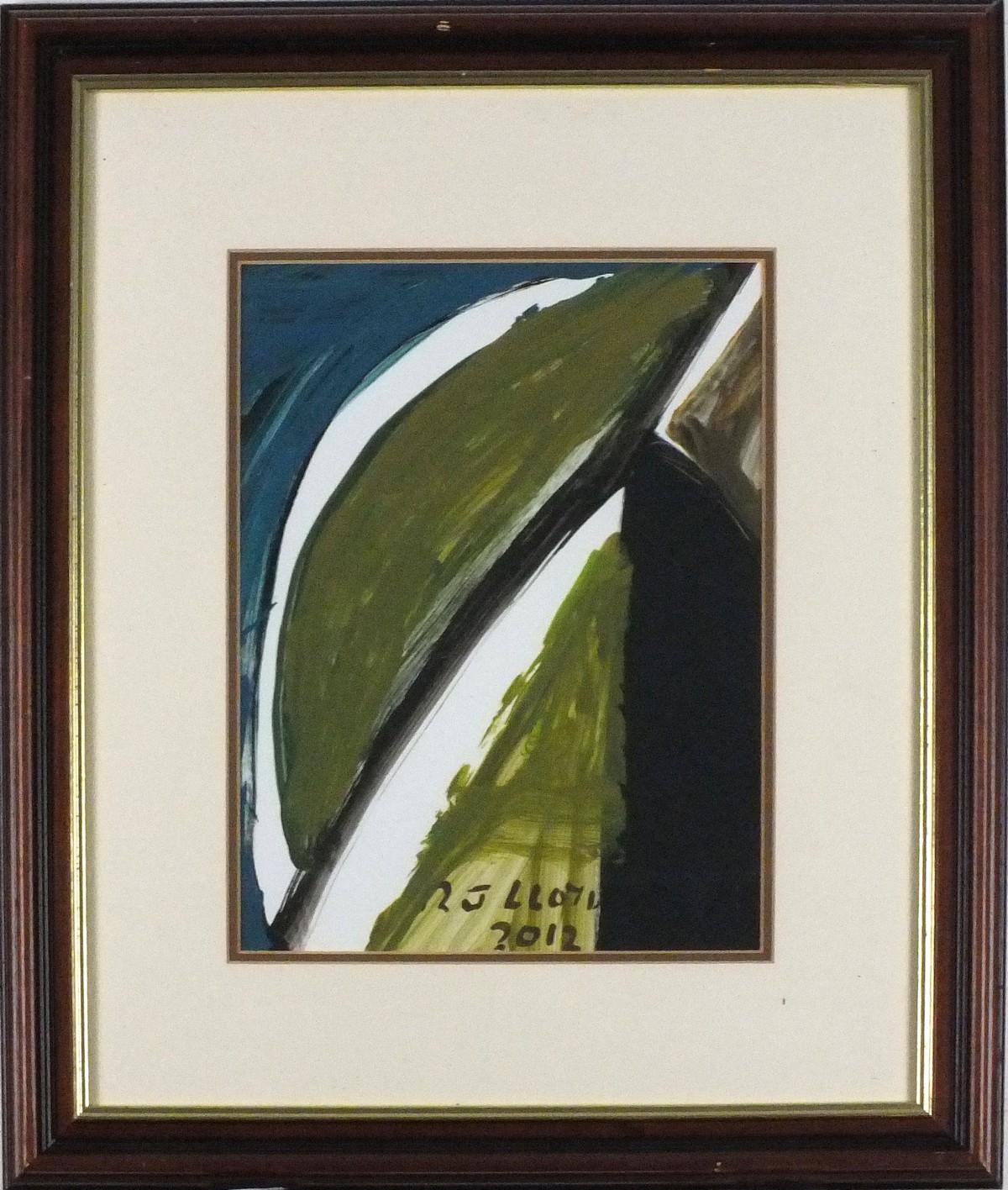 Lot 41 - Reginald James LLOYD (British b. 1926) Cliff Slide, Oil on paper, Signed and dated 2012 bottom