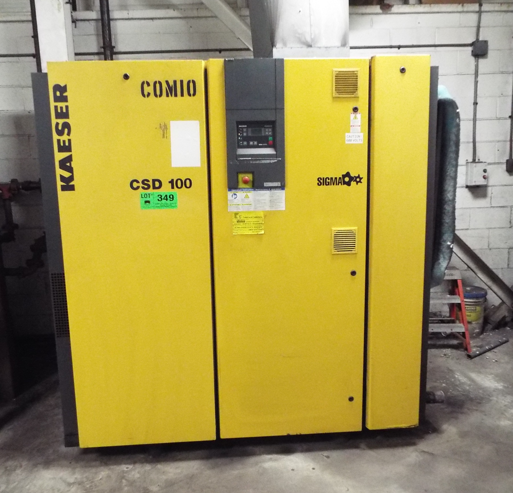 Lot 349 - KAESER CSD 100 100HP ROTARY SCREW AIR COMPRESSOR S/N: N