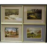 Pictures and Prints - Stanley Chapman, Mist In Upper Wharfedale, signed, watercolour,