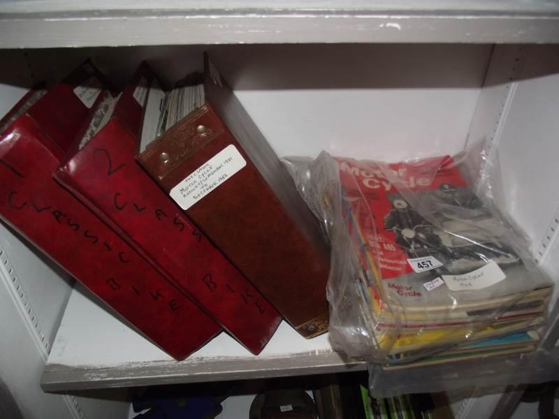 Lot 457 - 2 albums of Classic Bike magazine including No.