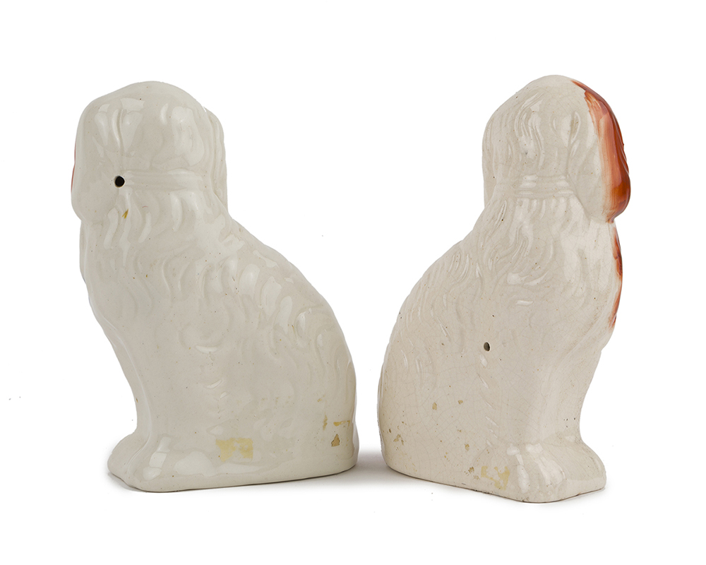 Lot 1021 - A pair of Staffordshire dogs