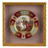 A Royal Vienna hand-painted plate