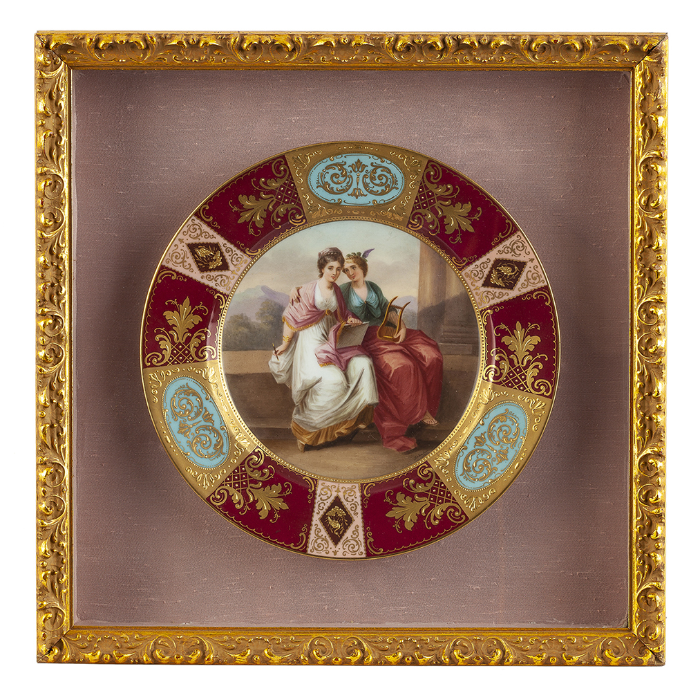 Lot 1006 - A Royal Vienna hand-painted plate