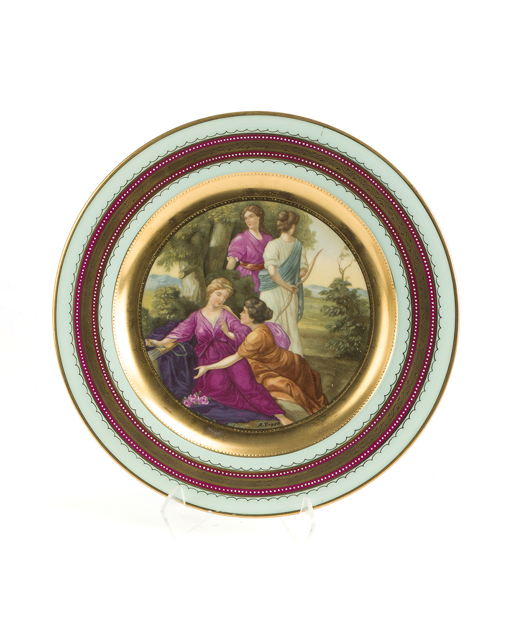 Lot 1046 - A Royal Vienna-style cabinet plate