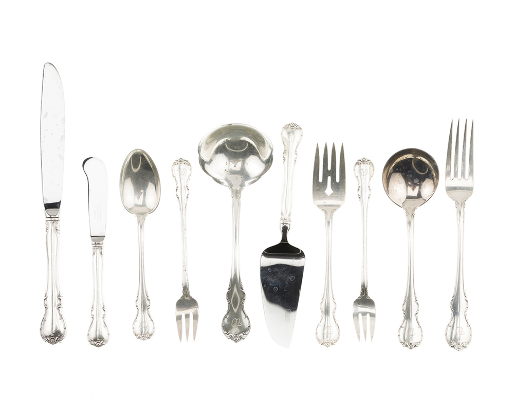 Lot 1098 - A Towle ''French Provincial'' sterling silver flatware service