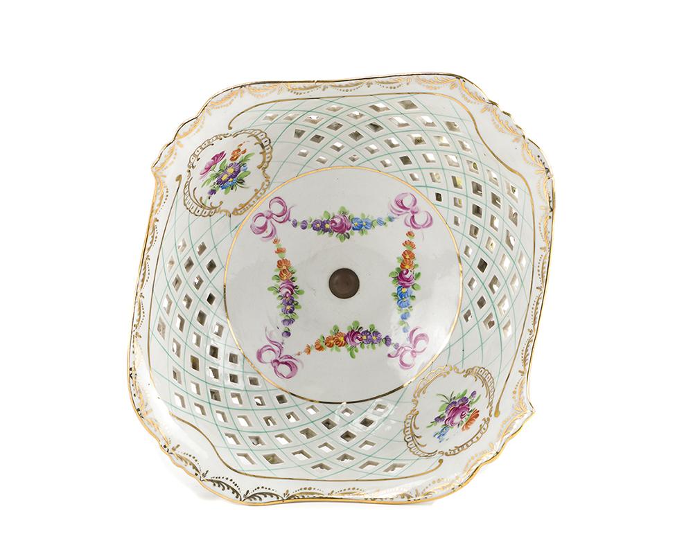 Lot 1054 - A Carl Thieme German porcelain epergne
