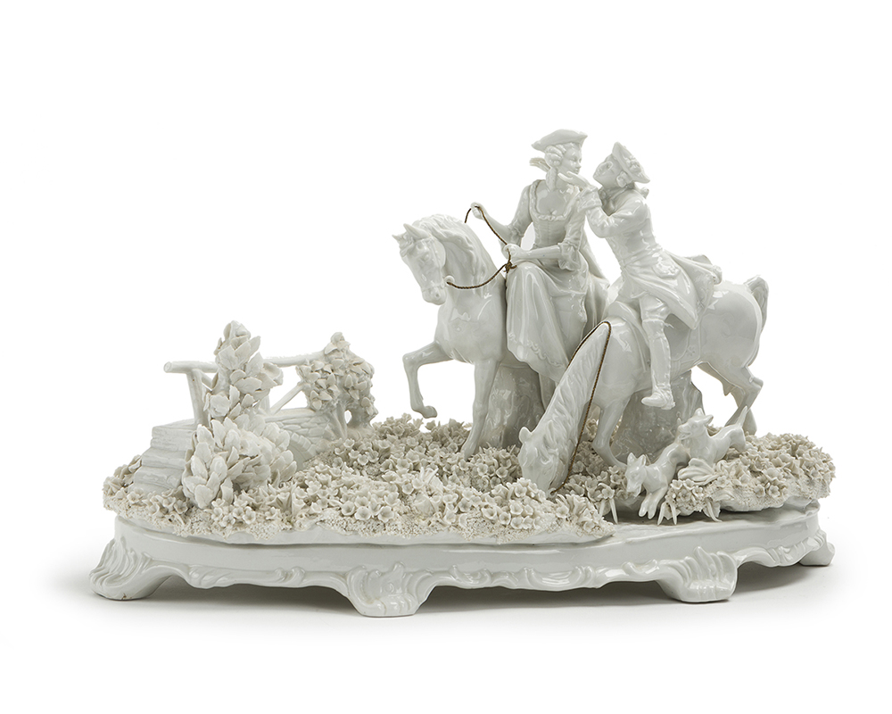 Lot 1045 - A German bisque figural group