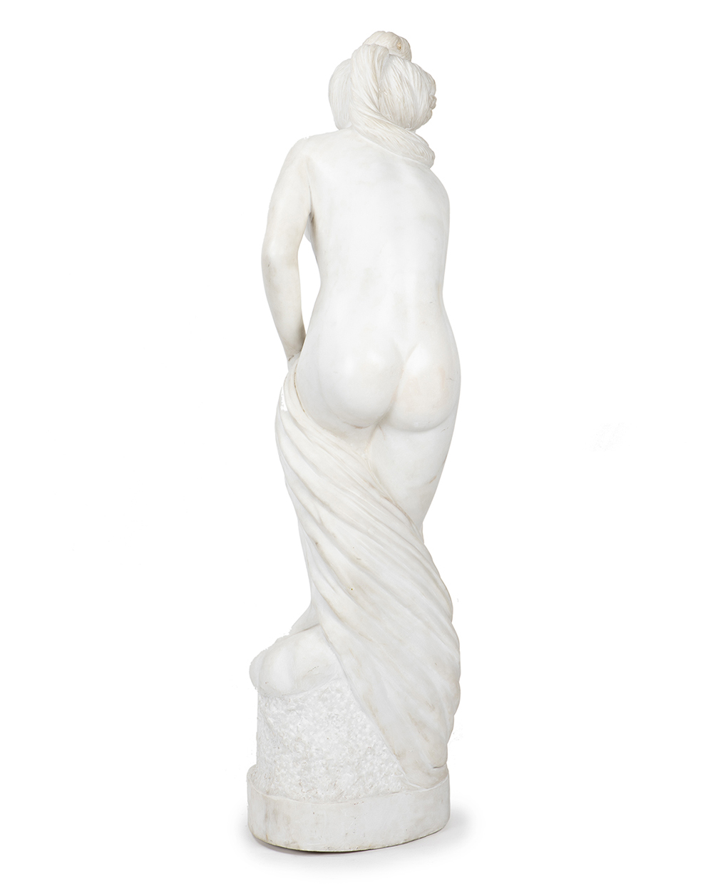 Lot 1001 - An Italian carved Carrera marble statue
