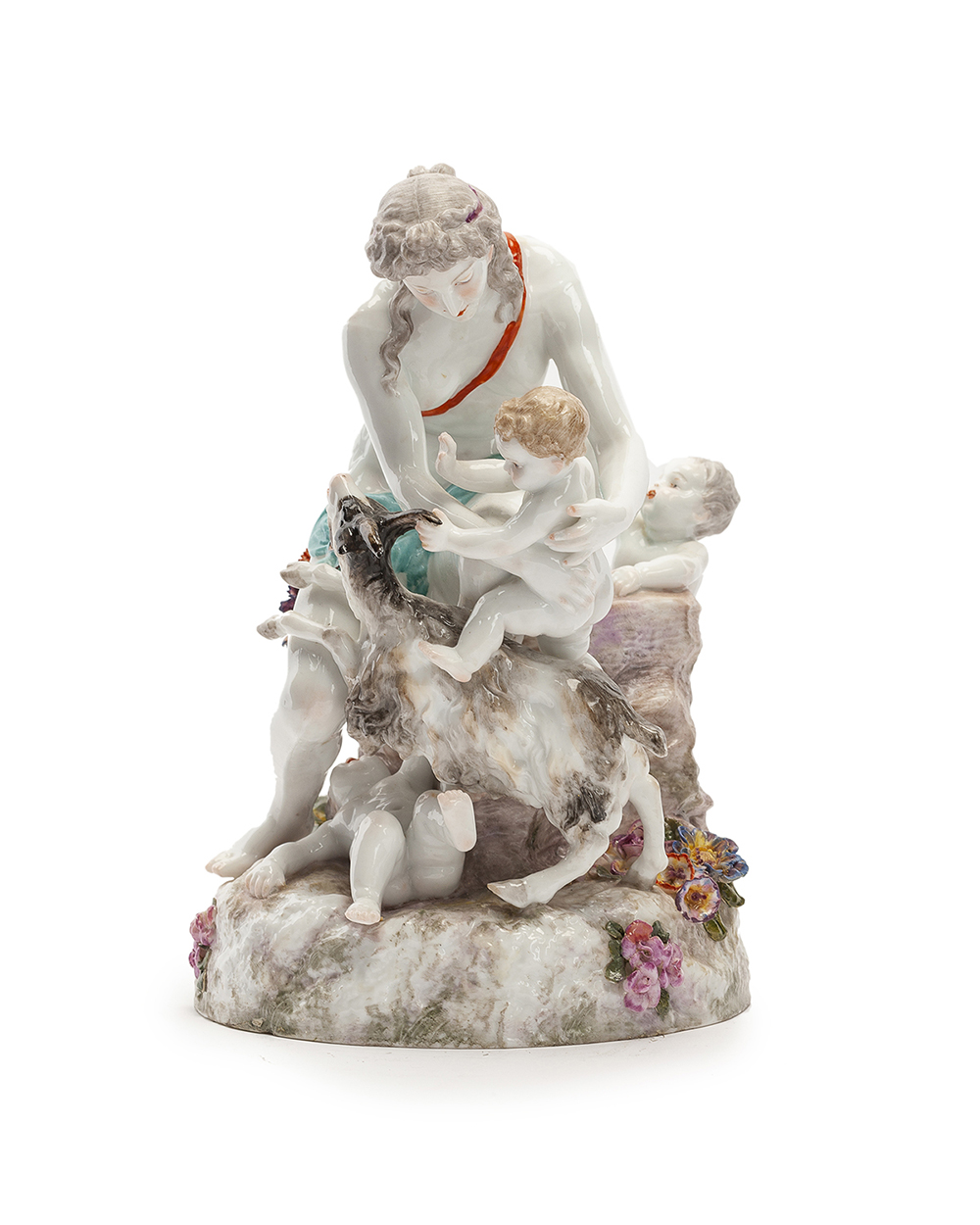 Lot 1031 - A Meissen-style figural group