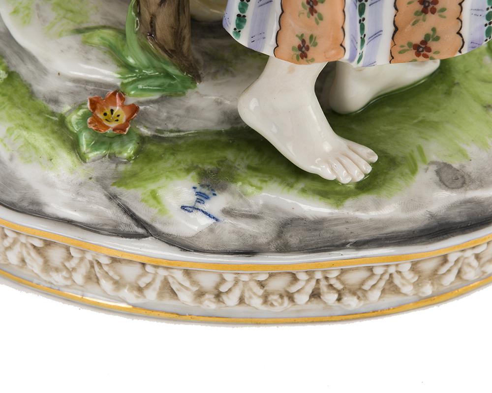 Lot 1056 - Four porcelain objects