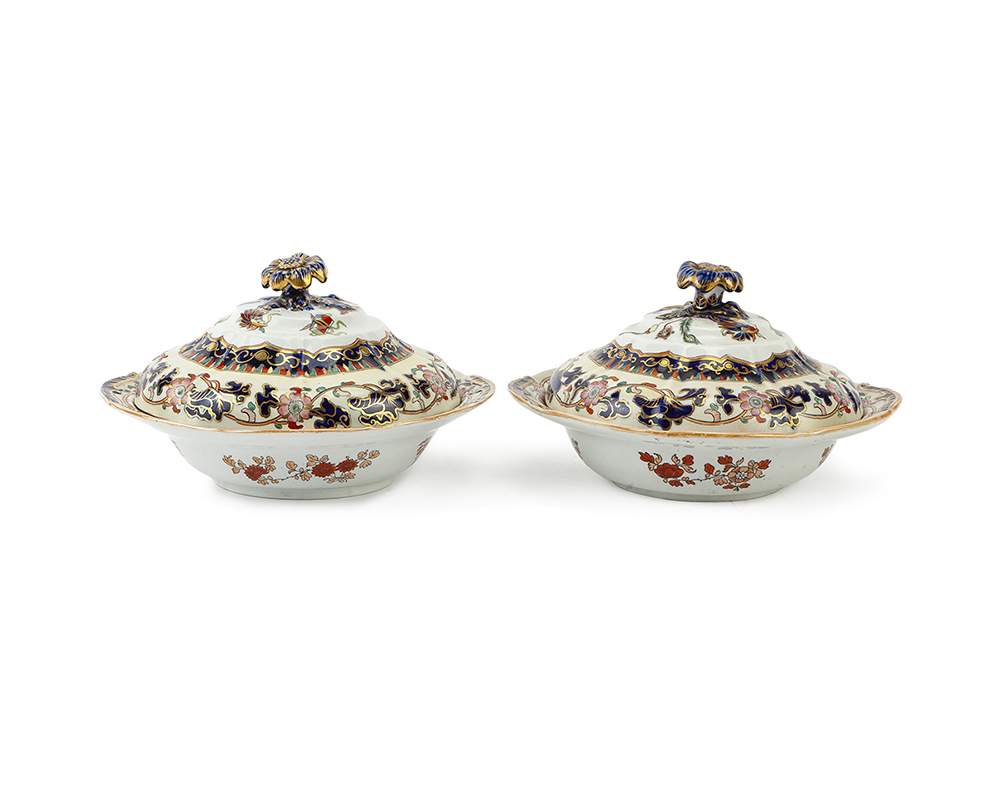 Lot 1027 - A pair of Mason's Ironstone covered vegetable dishes