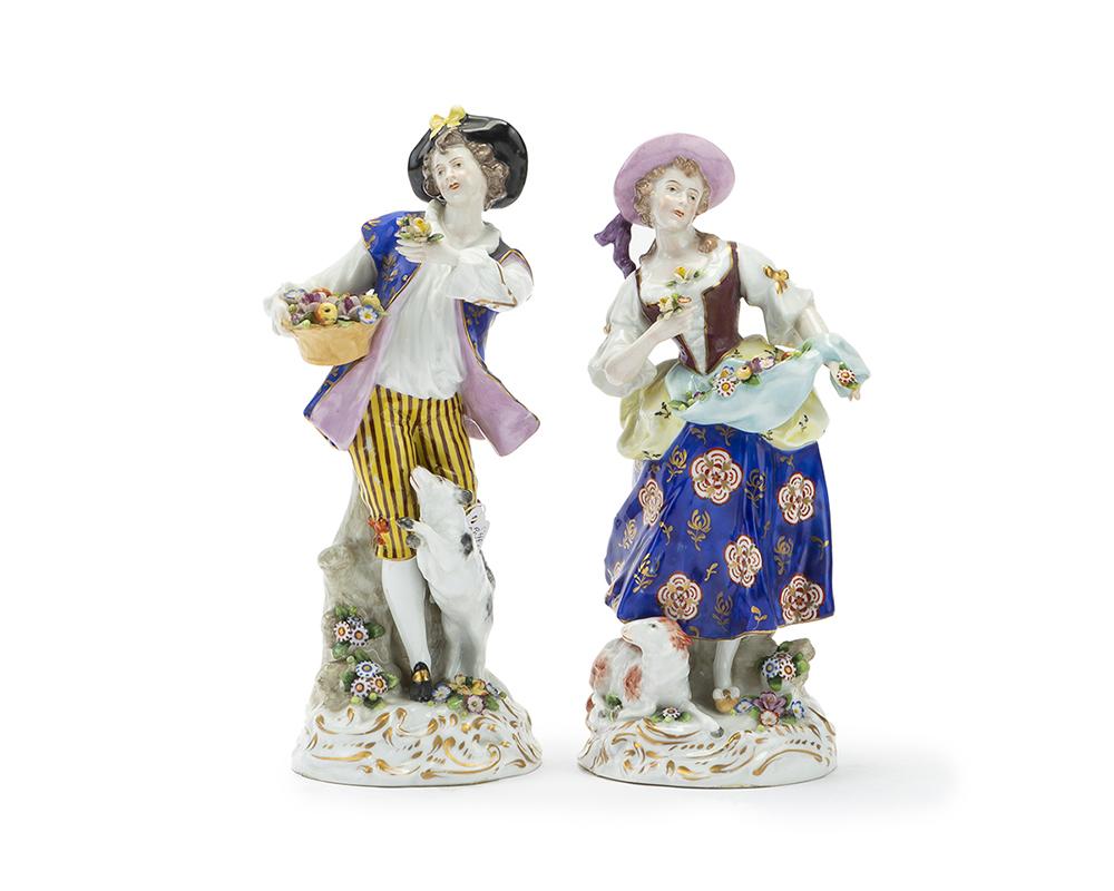 Lot 1010 - Two porcelain figures