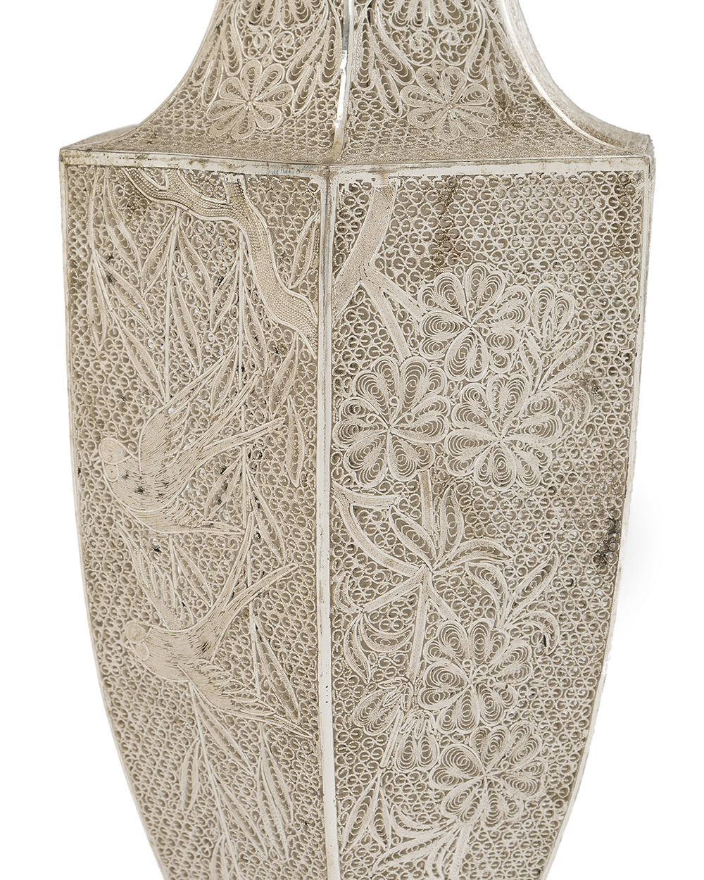 Lot 1132 - A Thai sterling silver vase