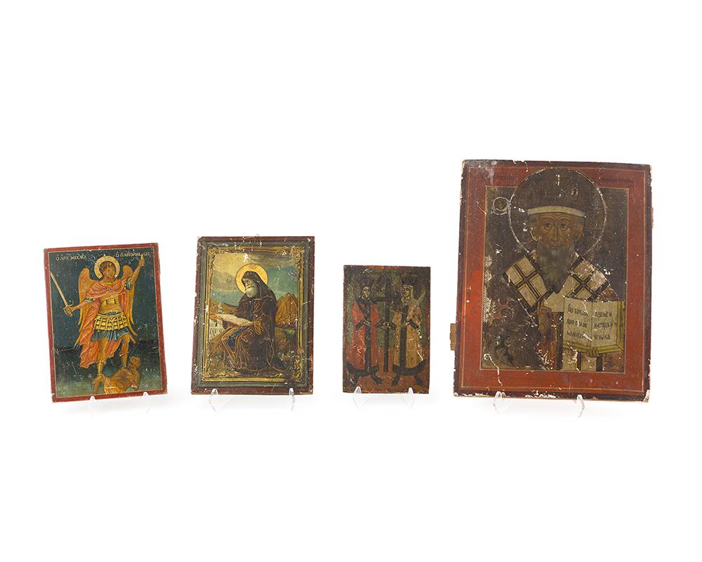 Lot 1041 - Four religious icons