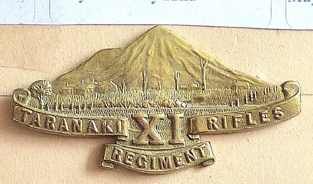 Lot 527 - New Zealand - 11th (Taranaki Rifles) Regiment - Gilding Metal