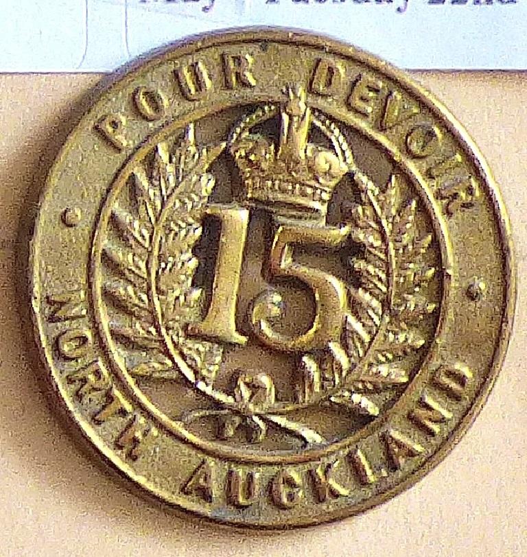 Lot 532 - New Zealand - 15th (North Auckland) Regiment - Brass KC
