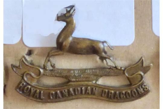 Canada - The Royal Canadian Dragoons 1883 Cap Badge - Brass