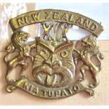 New Zealand - 18th Infantry Reinforcements - Brass