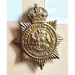 South Africa - South African Police Cap Badge - Brass KC