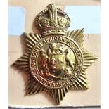 South Africa - South African Police Helmet Badge - Brass KC