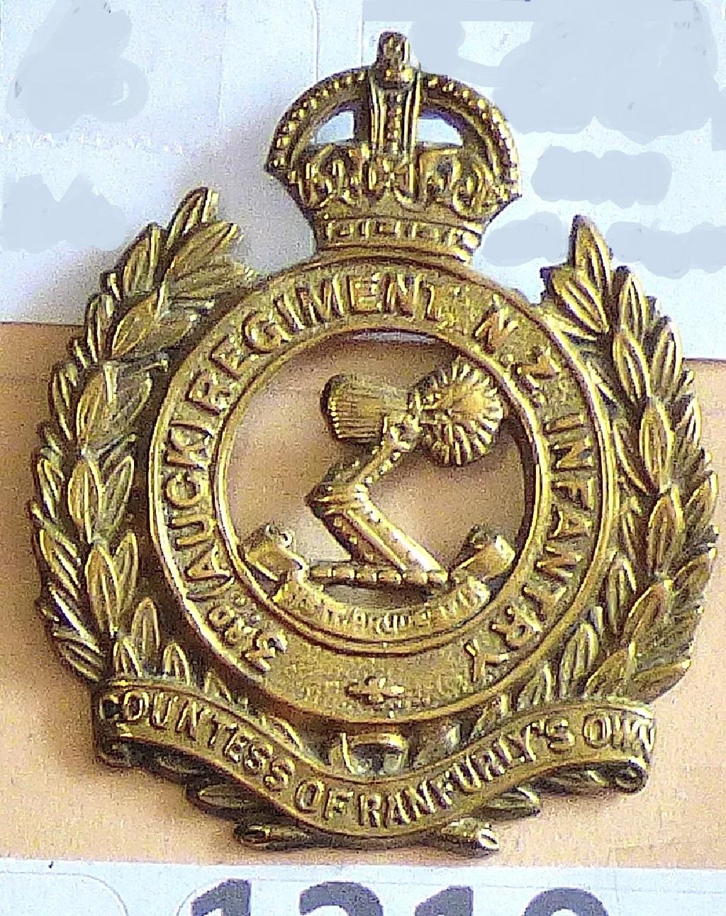 Lot 517 - New Zealand - 3rd (Auckland) Regiment - (Countess of Ranfurly's Own), Brass KC