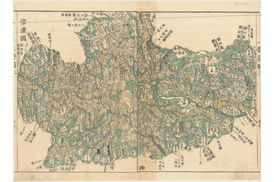 Shinano japan this woodblock map depicts the old japanese province shinano japan this woodblock map depicts the old japanese province of shinano now in present gumiabroncs Images