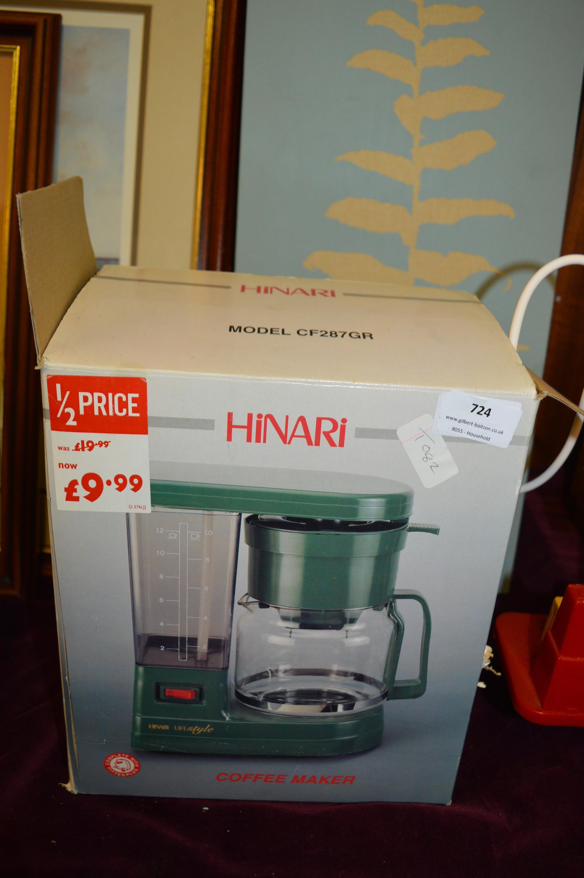 Lot 724 - Hinari Coffee Maker