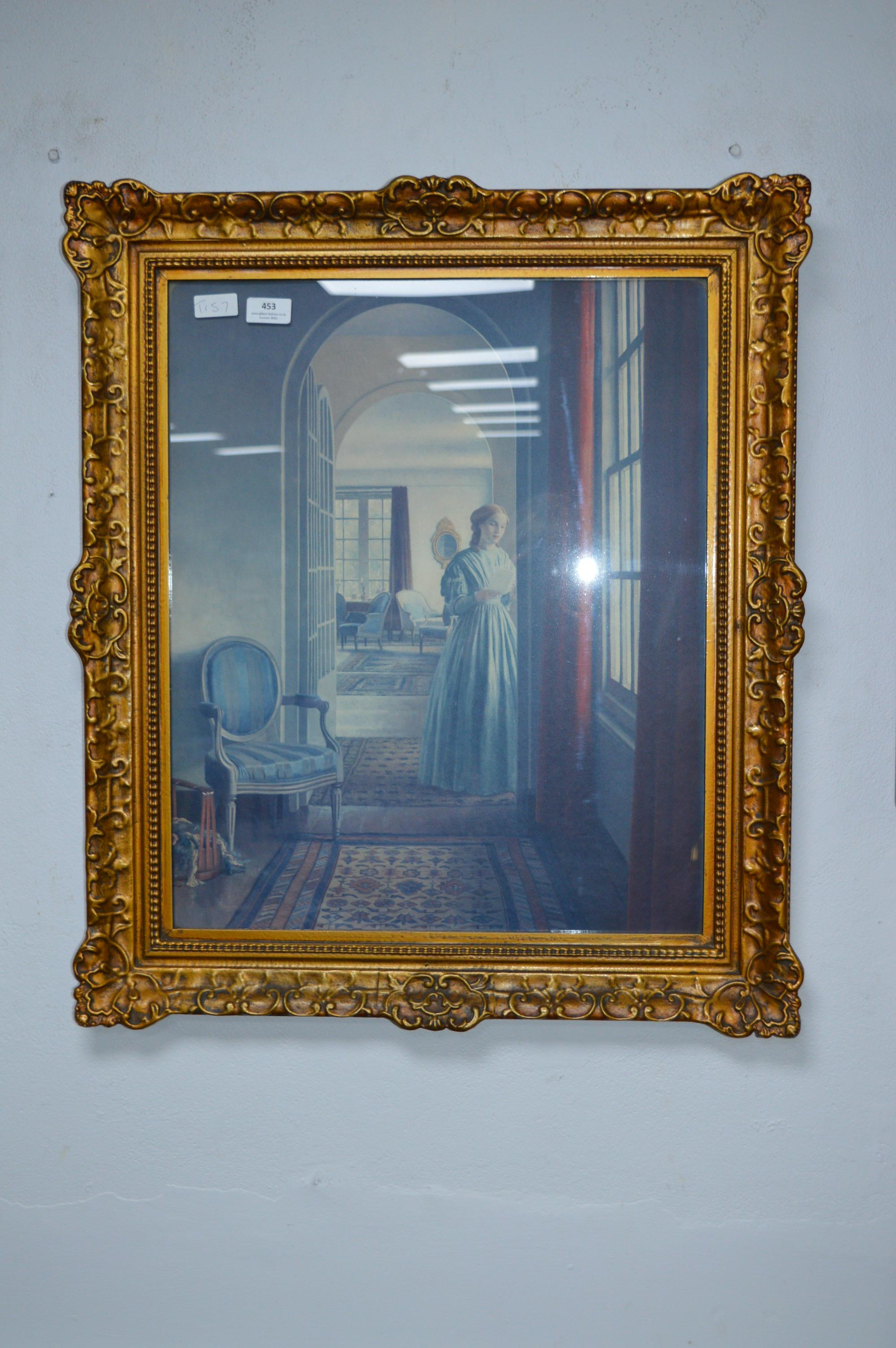 Lot 453 - Interior Study in Gilt Frame