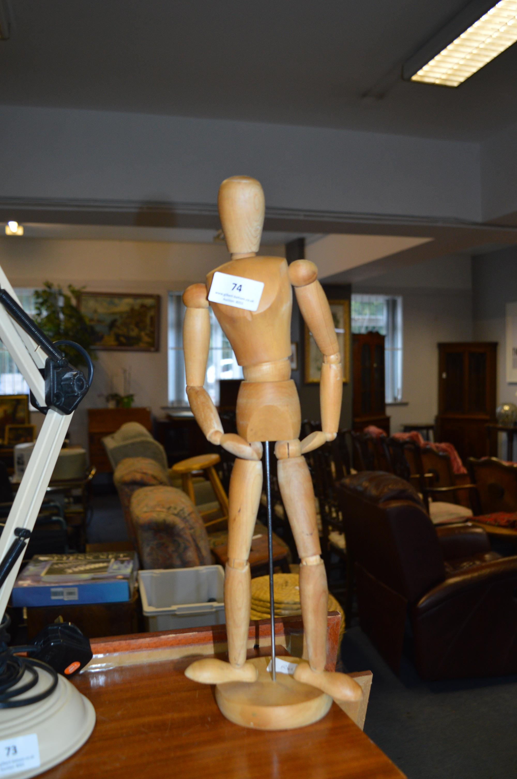 Lot 74 - Wooden Artists Mannequin