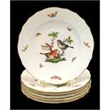 Herend | 6x Side - Plates | Ø 20.5 cm | Rothschild