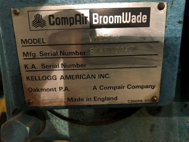 Compair Model V125DA 25hp Recip Air Compressor, S/N: E046/0047 | Load Fee: $50 - Image 3 of 3