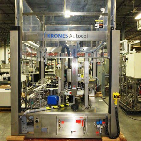 Krones Model Autocol Front/Back High Speed Pressure Sensitive Labeler, S/N: 747-   Load Fee: $250 - Image 2 of 4