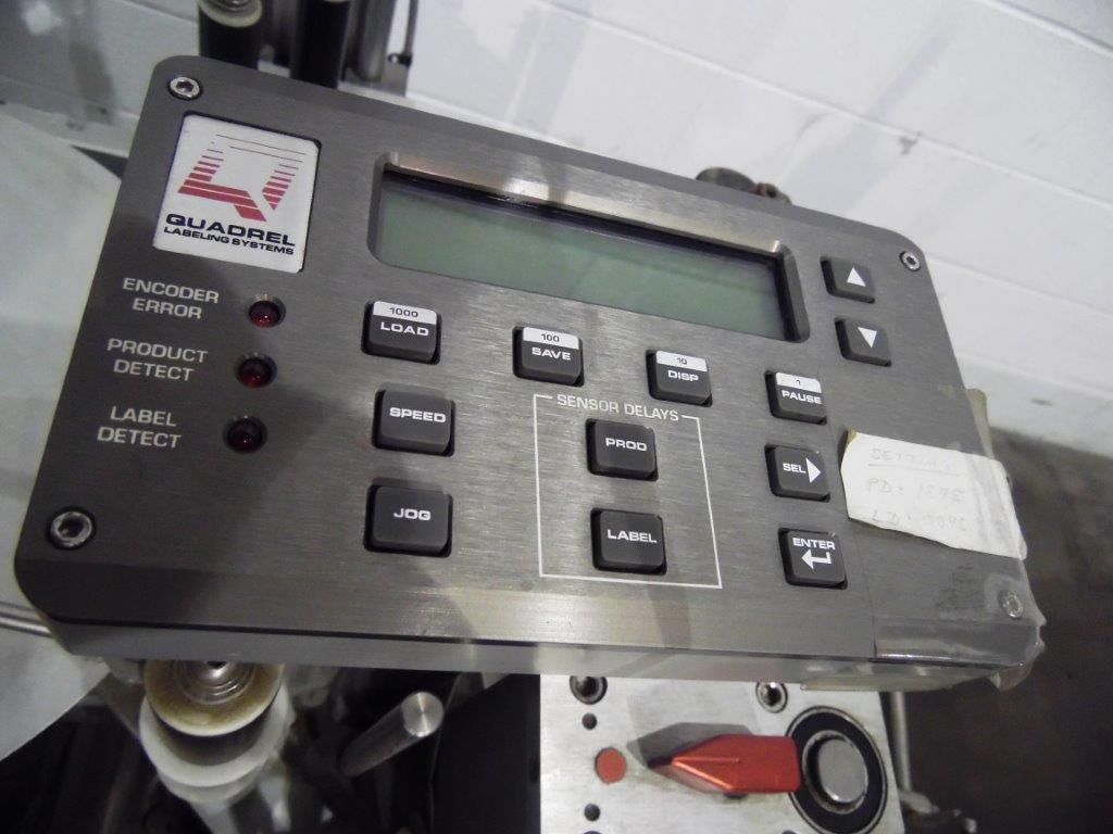 Quadrel Model Q65 Flat Belt Front & Back Pressure Sensitive Box Labeler, S/N: 79 | Load Fee: $100 - Image 4 of 4