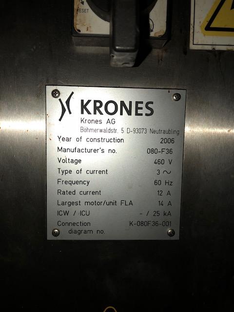 Krones Model Starmatic 960-16 Labeler, S/N: KO80-F36 | Load Fee: $250 - Image 5 of 5
