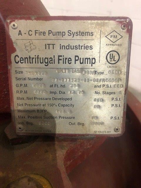 Clark Model JU6HUF50 Fire Pump, S/N: PE6068T238449 | Load Fee: $50 - Image 6 of 6