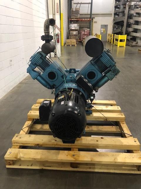 Compair Model V125DA 25hp Recip Air Compressor, S/N: E046/0047 | Load Fee: $50 - Image 2 of 3
