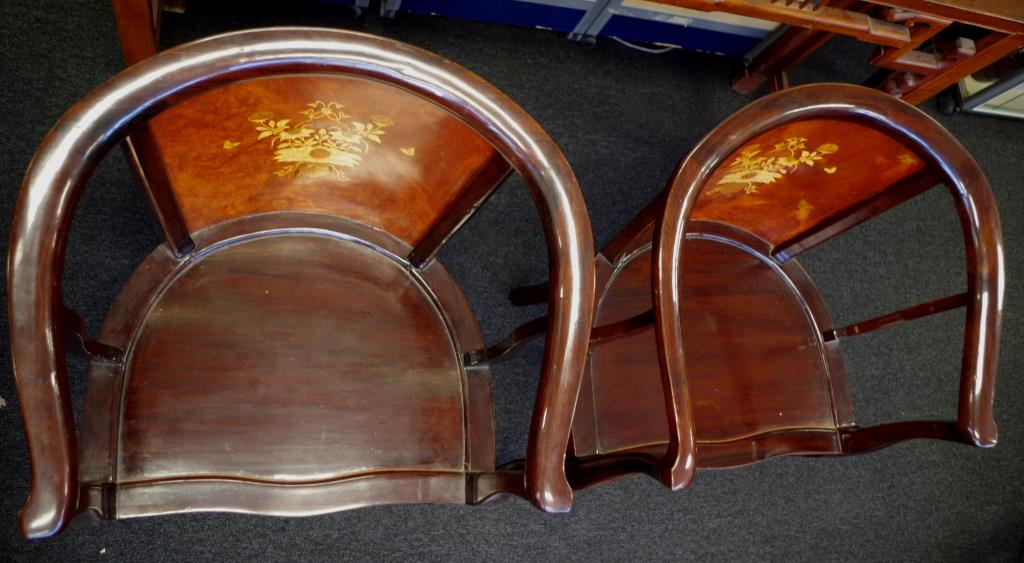 Lot 1861 - Pair of Cambodian rosewood armchairs