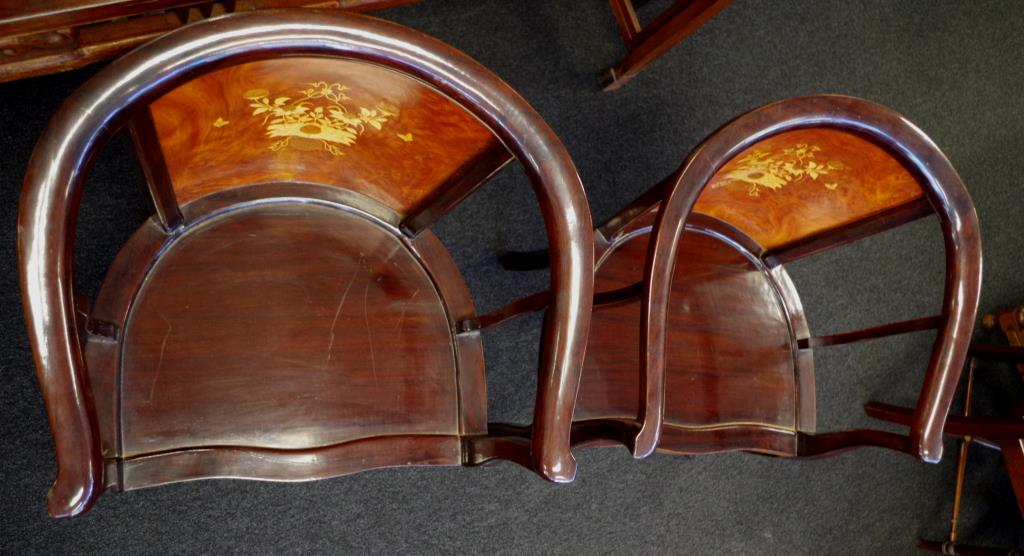 Lot 1859 - Pair of Cambodian rosewood armchairs