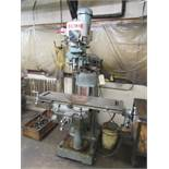 Enco Variable Speed Vertical Knee Mill with 9'' x 42'' Table, R-8 Spindle Speeds Variable to 2800