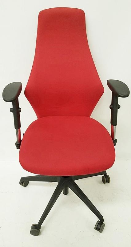A Pair Of LIMA Branded Premium Adjustable Office Chairs Featuring Fixed Lumbar Support And Arm Rests