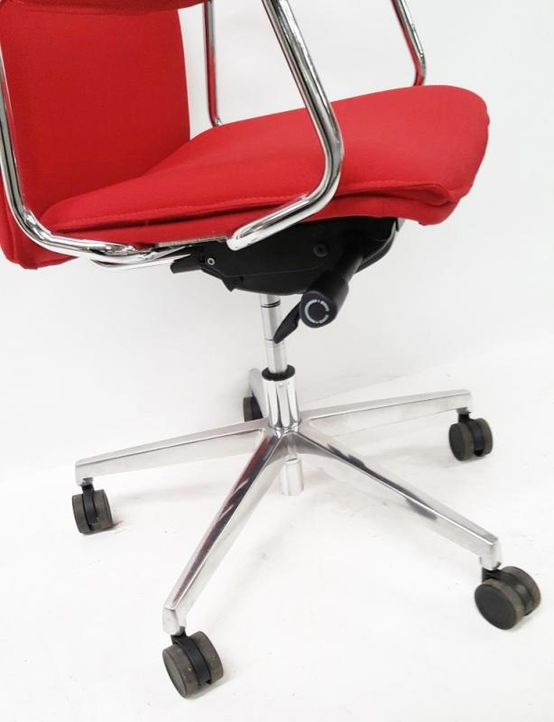 1 x 'Sven Christiansen' Premium Designer High-back Office Chair In Red (HBB1HA) - Used, In Very Good - Image 5 of 7