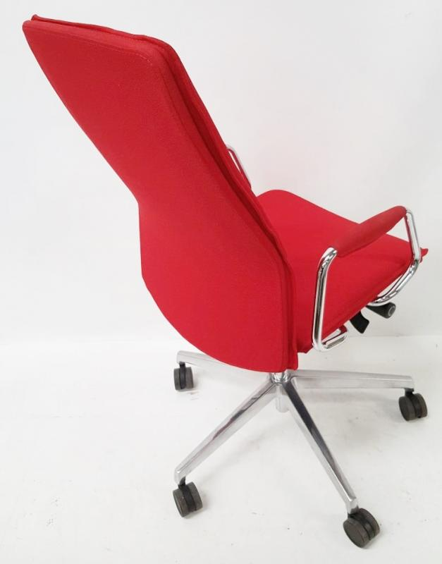 1 x 'Sven Christiansen' Premium Designer High-back Office Chair In Red (HBB1HA) - Used, In Very Good - Image 3 of 7