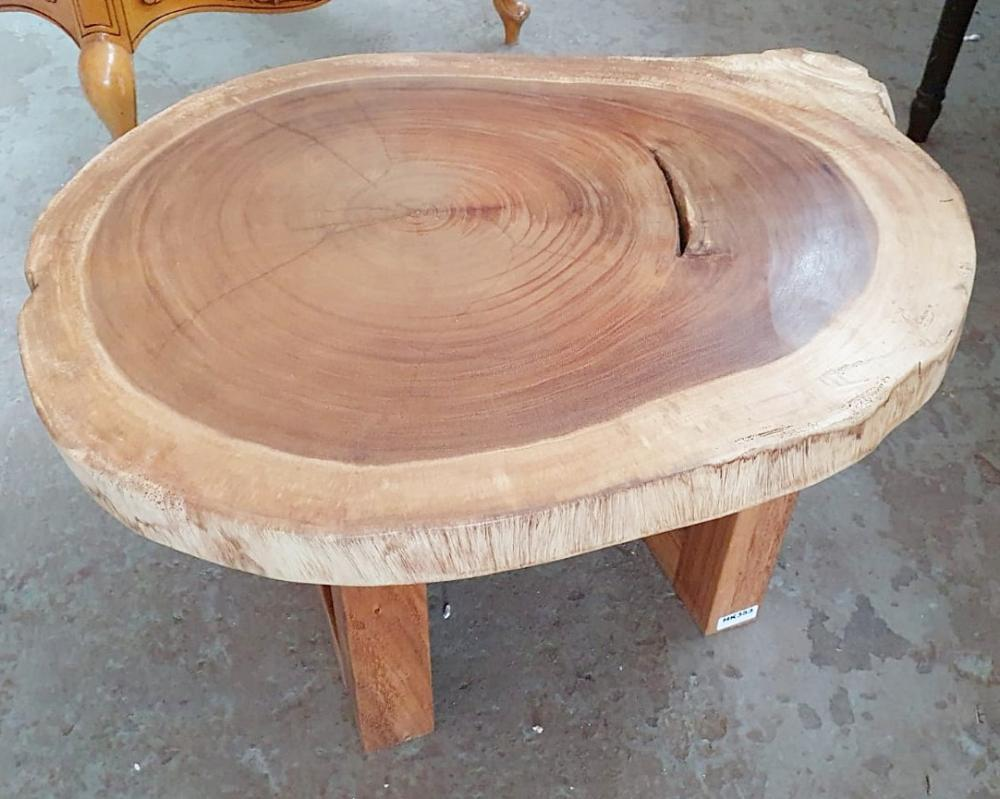 1 x Unique Reclaimed Solid Tree Trunk Coffee Table With Square Base - Dimensions (approx): Height 45 - Bild 3 aus 3