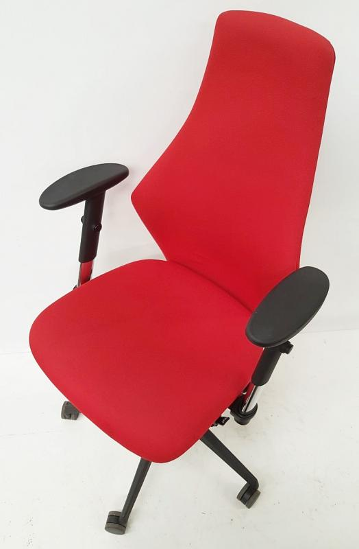 A Pair Of LIMA Branded Premium Adjustable Office Chairs Featuring Fixed Lumbar Support And Arm Rests - Image 5 of 7